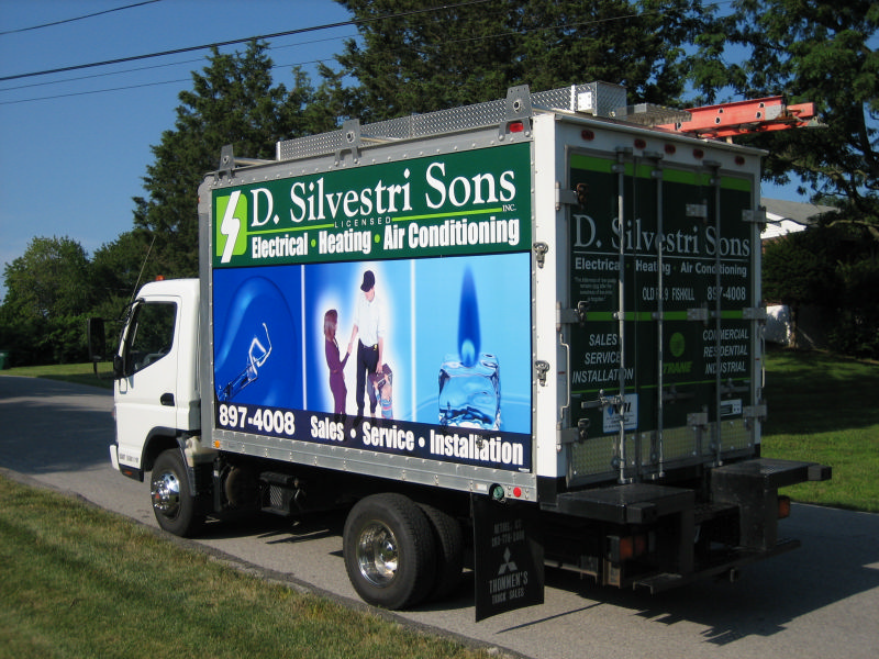 Silvestri Plumbing, electrical, and air conditioning service Truck in Fishkill, NY