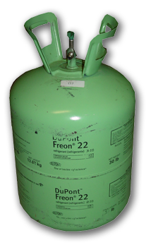 Mint-Colored Freon-22 Canister